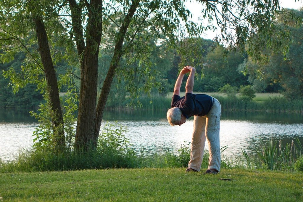 senior yoga stretch